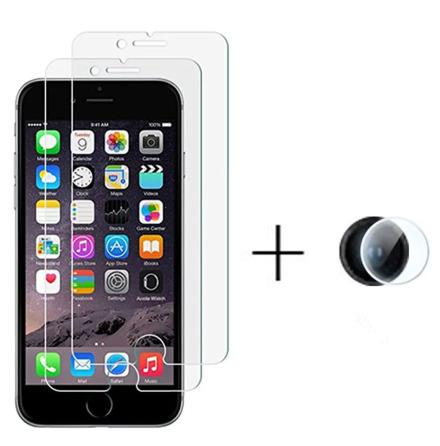iPhone 7 Skärmskydd + Kameralinsskydd HD 0,3mm