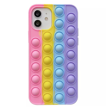 iPhone 12 - Mjukt Skyddande Fidget Pop It Silikonskal