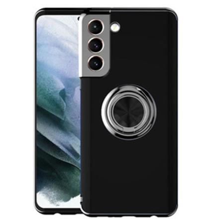 Samsung Galaxy S21 - Stilsäkert Praktiskt Skal med Ringhållare