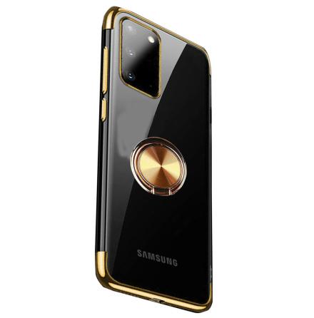 Samsung Galaxy A02S - Stilrent FLOVEME Skal med Ringhållare