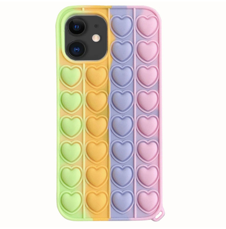 iPhone 11 - Mjukt Hjärta Fidget Pop It Silikonskal