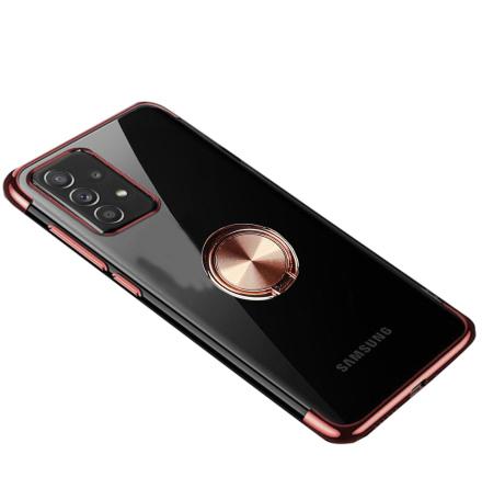 Samsung Galaxy A72 - Elegant Silikonskal med Ringhållare
