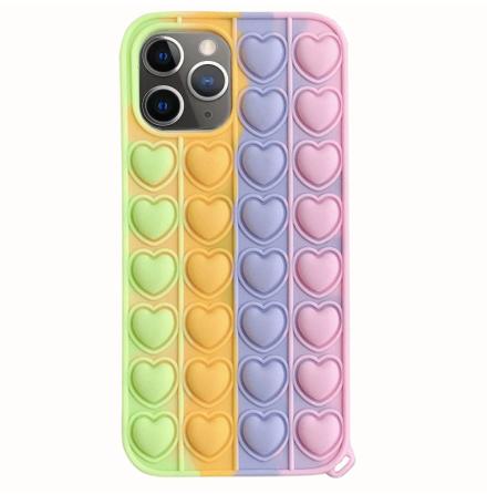iPhone 12 Pro - Mjukt Fidget Pop It Simple Dimple Silikonskal
