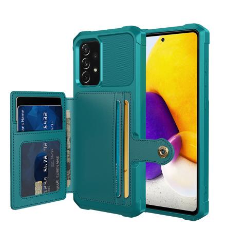 Samsung Galaxy A52 - Praktiskt Skyddsskal med Korthållare