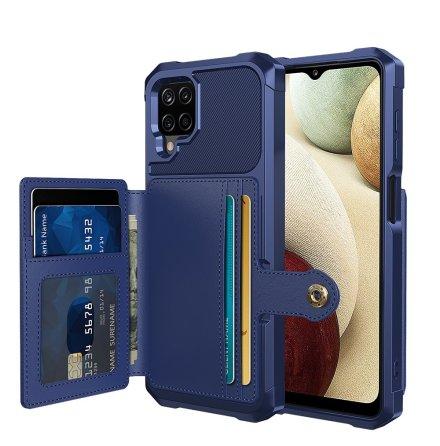 Samsung Galaxy A12 - Stilrent Praktiskt Skal med Korthållare