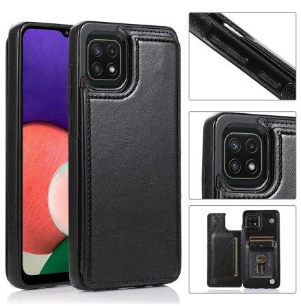 Samsung Galaxy A22 5G - Stilsäkert Skal med Korthållare