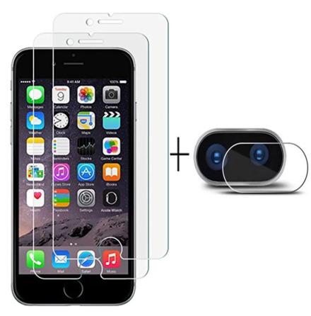 iPhone 8 Plus Skärmskydd + Kameralinsskydd HD 0,3mm