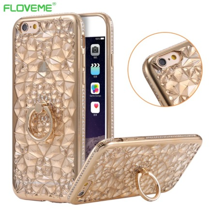 Stilrent DIAMOND skal med Ringhållare för iPhone 6/6S