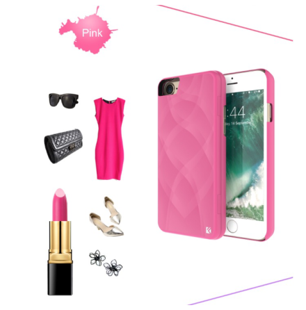 iPhone 7 - Elegant Skal med Spegel samt Korthållare