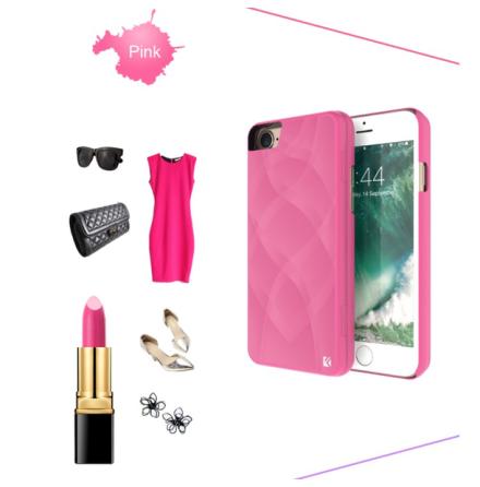 iPhone 8 Plus - Elegant Skal med Spegel Korthållare