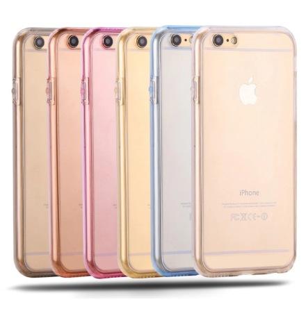 iPhone 8 PLUS - Dubbelsidigt silikonfodral med TOUCHFUNKTION
