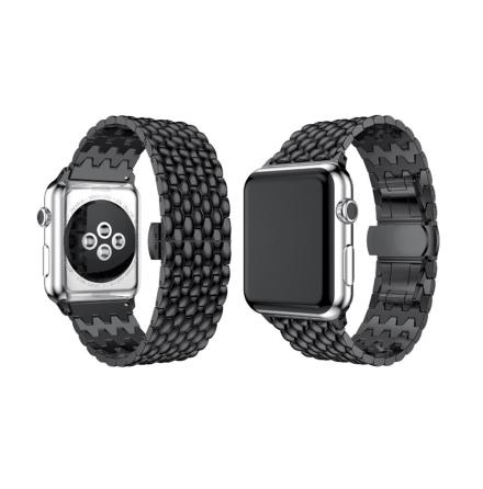 Stilren Länk i Rostfritt Stål till Apple Watch 38mm (3/2/1)