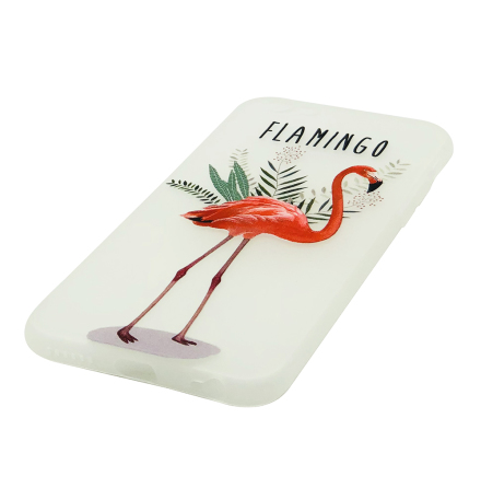 Flamingo - Retroskal av silikon för iPhone 6/6S