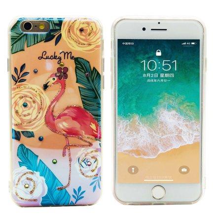 Pretty Flamingo - Retroskal av silikon för iPhone 6/6s