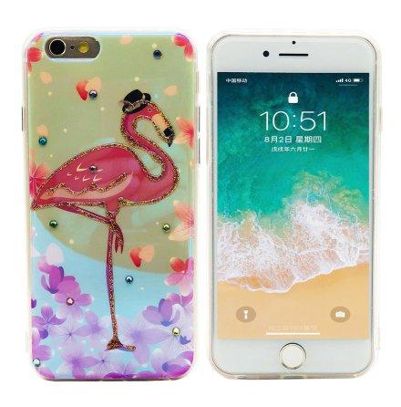 Pink Flamingo - Retroskal av Silikon för iPhone 6/6S