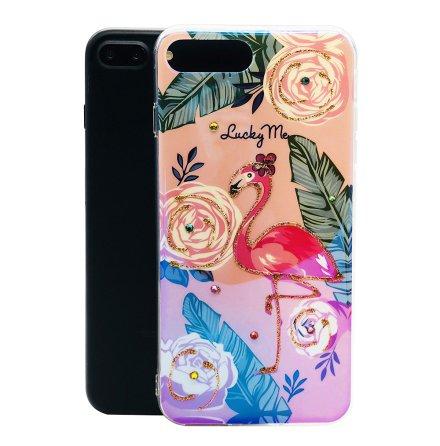 Pretty Flamingo - Retroskal av silikon för iPhone 7