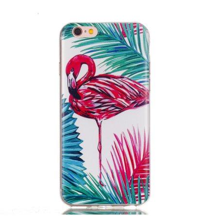 Palm Flamingo - Retroskal av silikon för iPhone 6/6S
