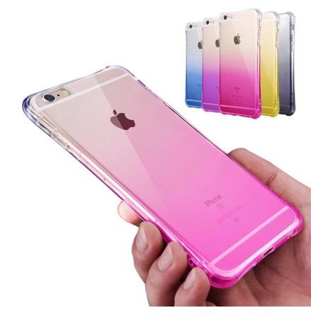 iPhone 6/6S - Stilrent OMBRE silikonskal med extra tjock kant