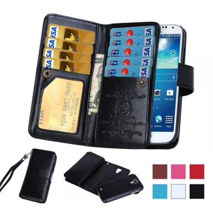 Elegant 9-kort Plånboksfodral för Samsung Galaxy S8