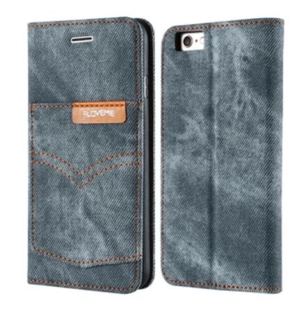 iPhone 7 Plus - FLOVEME's Plånboksfodral (RETRO JEANS-serien)
