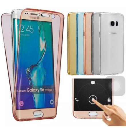 Samsung S7 Edge Dubbelsidigt silikonfodral med TOUCHFUNKTION
