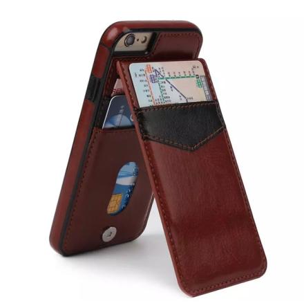 iPhone 7 Plus - Praktiskt Läderskal med Plånbok/Kortfack