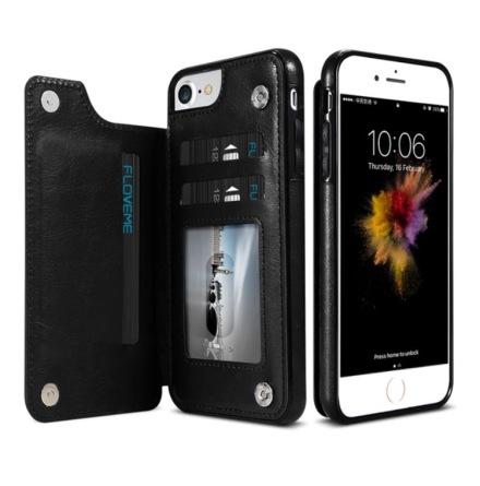iPhone 6/6S Plus - NKOBEE Läderskal med Plånbok/Kortfack