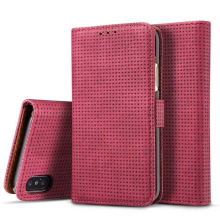 Plånboksfodral i Retrodesign från LEMAN till iPhone XS Max