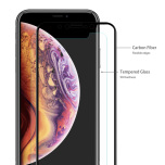 iPhone XS Max Skärmskydd Carbon 2-PACK 9H Screen-Fit 3D/HD HD-Clear