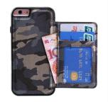 Praktiskt militär mönstrat plånboksskal till iPhone 6/6S PLUS