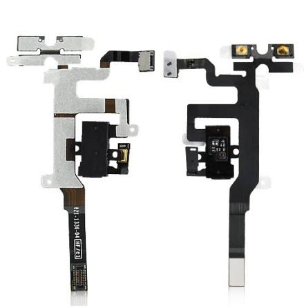 iPhone 4S - Hörlursflex (SVART)