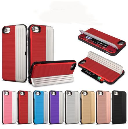 Klassiskt Skal med korthållare från LEMAN - iPhone 8