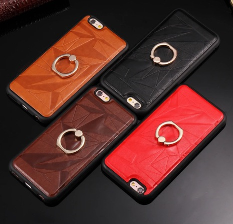 Stilrent iPhone 6/6S PLUS skal i läder med ringhållare från FLOVEME