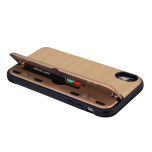 Klassiskt Skal med korthållare från LEMAN - iPhone XR