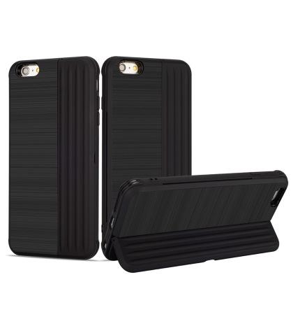 Klassiskt Skal med korthållare från LEMAN - iPhone 6/6S Plus