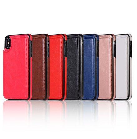 iPhone XR - NKOBEE Läderskal med Plånbok/Kortfack