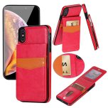 iPhone XS Max - LEMAN Läderskal med Plånbok/Kortfack
