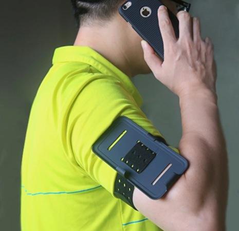 Multifunktionell sportarmbands skal för iPhone 6/6S HAISSKY