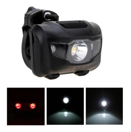 Kraftig MULTI-LED cykellampa från MTB för fram/bak belysning
