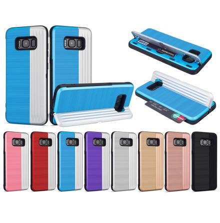 Klassiskt Skal med korthållare från LEMAN - Samsung Galaxy S8+