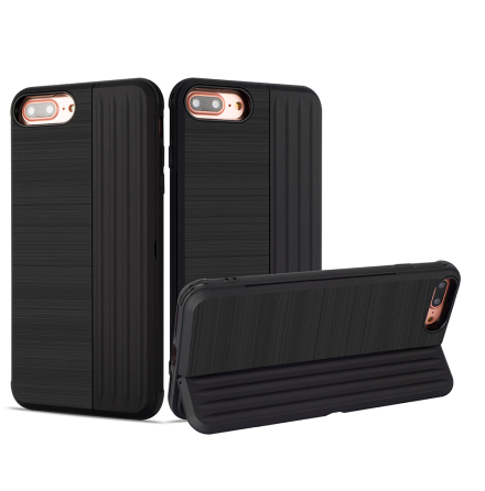 Klassiskt Skal med korthållare från LEMAN - iPhone 7 Plus
