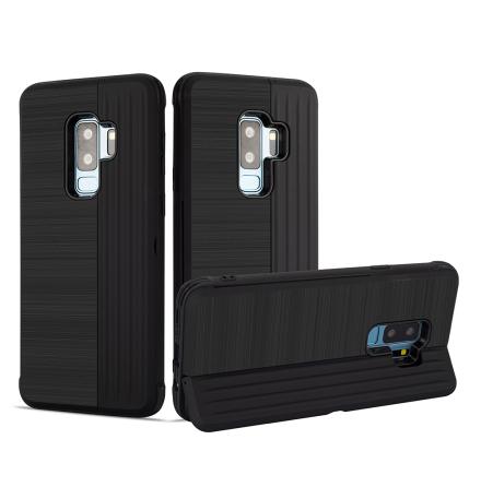 Klassiskt Skal med korthållare från LEMAN - Samsung Galaxy S9+