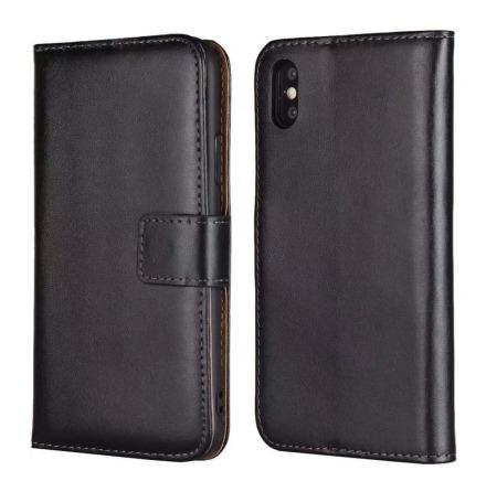 iPhone XR - Stilrent Plånboksfodral i Läder från TOMKAS