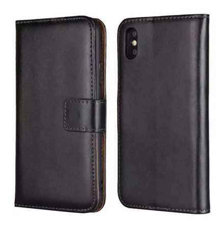 iPhone XS Max - Stilrent Plånboksfodral i Läder från TOMKAS