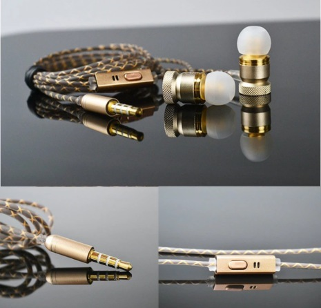 TOMKAS In-ear Metallic Earphone With Mic In-line Control ORGINAL