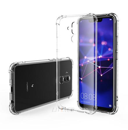 Huawei Mate 20 Lite - Tunt Silikonskal med Airbagfunktion
