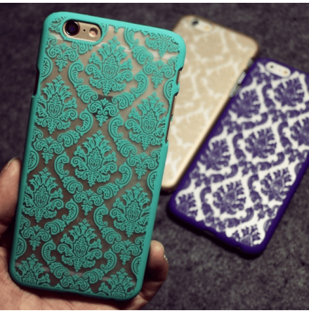 "iPhone 6/6S skal ""Vintage flower"" (Champagne)"