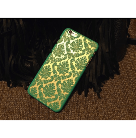 "iPhone 6/6S skal ""Vintage flower"" (Turkos)"