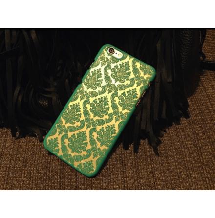 "iPhone 6/6S skal ""Vintage flower"" (Turkos)"