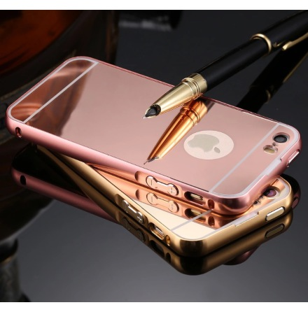 iPhone 5/5S/5SE - Elegant skal från LEMAN (ram i Aluminium)